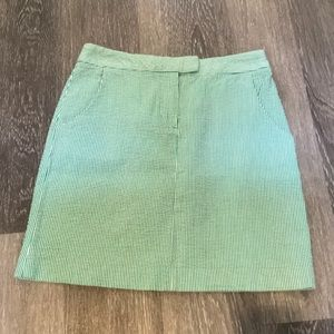 🎉5/$25 Kenar Green & White Seersucker Skirt